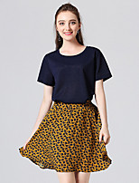 cheap -Women's Polo - Solid Colored / Floral Skirt
