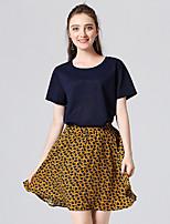 abordables -Mujer Polo - Un Color / Floral Falda