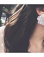 Недорогие -Жен. Стильные Серьги-гвоздики - Цветы Милая, Мода Белый Назначение Свадьба / Для вечеринок