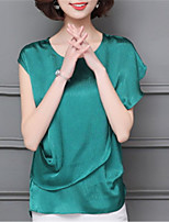 cheap -Women's Basic Blouse - Solid Colored