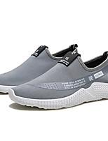 cheap -Men's Knit Spring & Summer Comfort Loafers & Slip-Ons Slogan Black / Gray / Red
