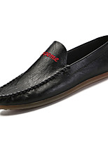 cheap -Men's Moccasin PU(Polyurethane) Fall Loafers & Slip-Ons White / Black