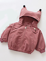cheap -Kids Girls' Basic Solid Colored Long Sleeve Cotton Jacket & Coat