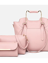 cheap -Women's Bags PU(Polyurethane) Bag Set 3 Pcs Purse Set Zipper Blushing Pink / Camel / Gray