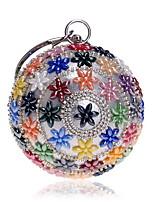 economico -Per donna Sacchetti Acrilico / Lega Borsa da sera Dettagli con cristalli Arcobaleno