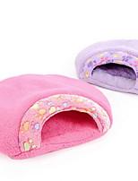 Недорогие -Мягкий / На каждый день Одежда для собак Кровати Леопард Лиловый / Коричневый / Розовый Собаки / Коты