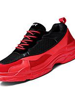 cheap -Men's Mesh Summer Comfort Sneakers Color Block Black / Black / White / Black / Red