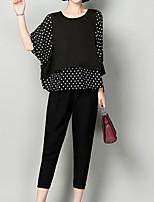 cheap -Women's Basic / Street chic Set - Polka Dot, Print Pant
