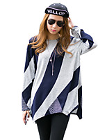 cheap -Women's Street chic T-shirt - Geometric Print