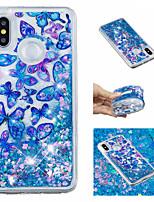 cheap -Case For Xiaomi Redmi Note 5 Pro / Mi 8 Flowing Liquid / Pattern / Glitter Shine Back Cover Butterfly / Glitter Shine Soft TPU for Xiaomi Redmi Note 5 Pro / Xiaomi Redmi Note 4X / Xiaomi Redmi Note 4