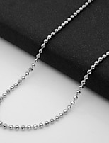 cheap -Men's Single Strand Chain Necklace - Titanium Steel European Silver 55 cm Necklace 1pc For Daily