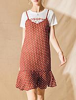 preiswerte -Damen Set - Solide / Geometrisch Kleid