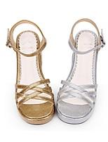economico -Scarpe Dolce Principessa / Brillante e glitterato Polacche Scarpe A pois 5 cm CM Oro / Argento Per PU