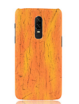 cheap -Case For OnePlus OnePlus 6 Frosted Back Cover Solid Colored Soft PU Leather for OnePlus 6