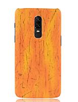 Недорогие -Кейс для Назначение OnePlus OnePlus 6 Матовое Кейс на заднюю панель Однотонный Мягкий Кожа PU для OnePlus 6