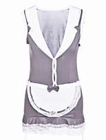 preiswerte -Damen Uniformen & Cheongsams / Anzüge Nachtwäsche - Spitze / Ausgehöhlt, Einfarbig / Patchwork