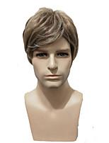 abordables -Pelucas sintéticas Rizado Corte asimétrico Pelo sintético 3inch Bonito / Fiesta Gris Peluca Hombre Corta Sin Tapa