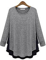 abordables -Tee-shirt Femme, Couleur Pleine - Coton / Couleur Pleine / Coton