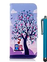 billige -Etui Til Nokia Nokia 5.1 / Nokia 3.1 Pung / Kortholder / Med stativ Fuldt etui Ugle Hårdt PU Læder for Nokia 8 / Nokia 6 2018 / Nokia 5.1