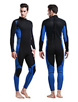 cheap -Men's Full Wetsuit 3mm Diving Suit UV Resistant, Stretchy Long Sleeve Back Zip Patchwork Autumn / Fall / Spring / Summer