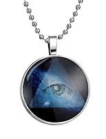 Недорогие -Муж. Светящийся камень Длиные Ожерелья с подвесками - Креатив Мода Синий 60 cm Ожерелье 1шт Назначение Halloween, Для клуба