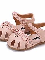 Недорогие -Девочки Обувь Полиуретан Лето Удобная обувь / Обувь для малышей Сандалии для Бежевый / Розовый