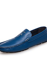 cheap -Men's Comfort Shoes Nappa Leather Spring & Summer Loafers & Slip-Ons Yellow / Blue