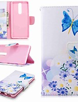 cheap -Case For Nokia Nokia 5.1 / Nokia 3.1 Wallet / Card Holder / with Stand Full Body Cases Butterfly Hard PU Leather for Nokia 8 / Nokia 6 / Nokia 6 2018