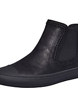 cheap -Men's Bootie Nappa Leather Fall & Winter Comfort Boots Black