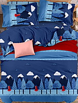 cheap -Duvet Cover Sets Geometric 100% Cotton Reactive Print 3 Piece