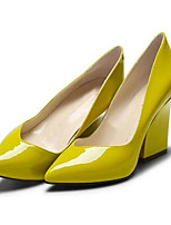 cheap -Women's Shoes Patent Leather Summer Comfort Heels Chunky Heel Yellow / Blue