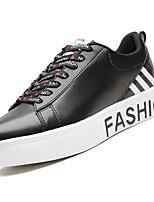Недорогие -Муж. Полиуретан Весна Удобная обувь Кеды Контрастных цветов Белый / Черный / Wit En Groen