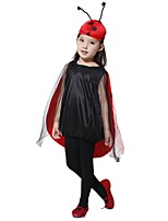 cheap -Cosplay Outfits Girls' Halloween / Carnival / Children's Day Festival / Holiday Halloween Costumes Black Solid Colored / Halloween Halloween