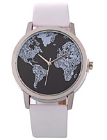cheap -Women's Wrist Watch Chinese Casual Watch Leather Band Casual / Fashion Black / White / Brown
