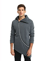 cheap -Men's Active / Exaggerated Sweatshirt - Solid Colored