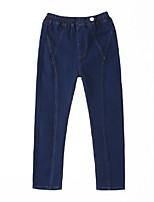 economico -Bambino Da ragazza Essenziale Tinta unita Cotone Jeans