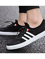 cheap -Men's Canvas Spring &  Fall Comfort Sneakers Black / Black / White / Black / Red