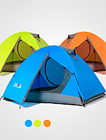 cheap -2 person Backpacking Tent Double Layered Poled Camping Tent Outdoor Rain-Proof, Windproof, UV resistant for Camping / Hiking / Caving 2000-3000 mm Terylene 210*140*110 cm
