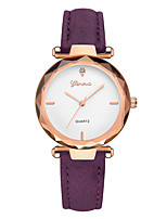 cheap -Geneva Women's Wrist Watch Chinese New Design / Casual Watch / Cool Leather Band Casual / Fashion Brown / Purple / Clover