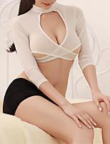 cheap -Women's Uniforms & Cheongsams / Suits Nightwear - Cut Out, Solid Colored