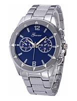baratos -Homens Relógio de Pulso Chinês Cronógrafo / Relógio Casual / Mostrador Grande Aço Inoxidável Banda Rígida / Elegante Prata