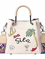 cheap -Women's Bags Straw Tote Embroidery White / Khaki