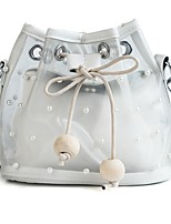 cheap -Women's Bags PVC(PolyVinyl Chloride) Shoulder Bag 2 Pieces Purse Set Pearls White / Black / Khaki