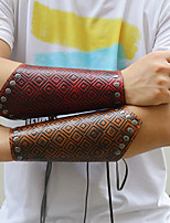 cheap -Men's Braided Wide Bangle - Leather Creative Punk, Rock Bracelet Brown / Dark Red For Street / Bar