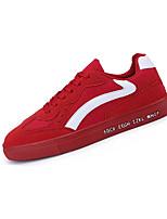 Недорогие -Муж. Замша Лето Удобная обувь Кеды Контрастных цветов Черный / Серый / Красный