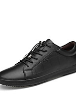 cheap -Men's Cowhide Spring Comfort Sneakers Black