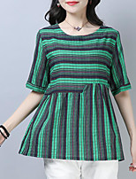 preiswerte -Damen A-Linie Kleid Gestreift Mini