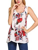 economico -T-shirt Per donna Boho / Moda città Con stampe, Fantasia floreale