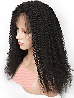 economico -Capello integro Lace integrale Parrucca Brasiliano Riccio Parrucca 150% Attaccatura dei capelli naturale / Con nodi candeggiati Per donna Lungo Parrucche di capelli umani con retina