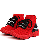 cheap -Girls' Shoes Knit / PU(Polyurethane) Spring & Summer Comfort Athletic Shoes Walking Shoes for Teenager White / Black / Red / Booties / Ankle Boots